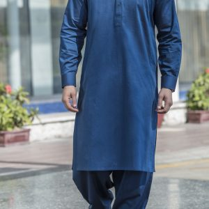 BLUE SHALWAR SUIT BY MEOSONS