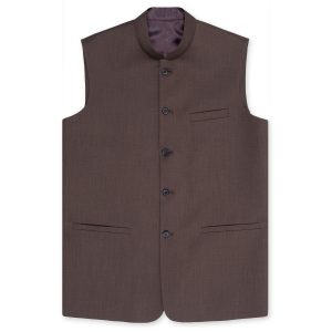 BROWN WAIST COAT BY MEOSONS
