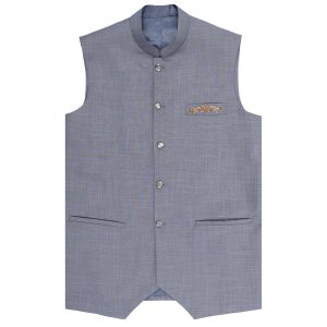 GREY WAIST COAT BY MEOSONS