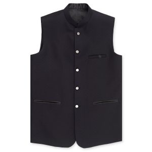DARK NAVY BLUE PLAIN WAIST COAT BY MEOSONS