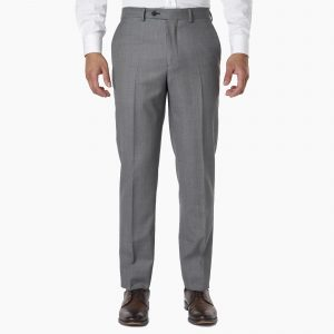 MeoSons DRESS PANTS – GREY BIRDSEYE