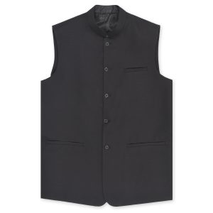 Tropical Black Waistcoat by MeoSons