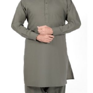 Light Olive Shalwar Suit by MeoSons