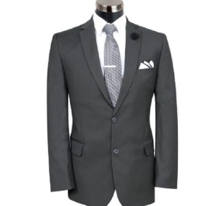 Grey Slim Fit Suit By MeoSons