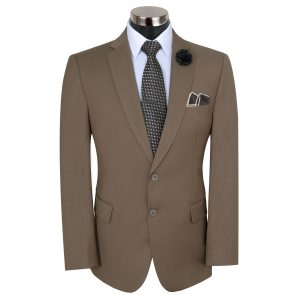 Light Brown Slim Fit Suit By MeoSons