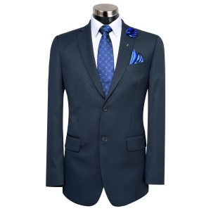 Navy Blue Slim Fit Suit  By MeoSons