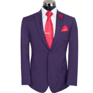 Purple Slim Fit Suit  By MeoSons